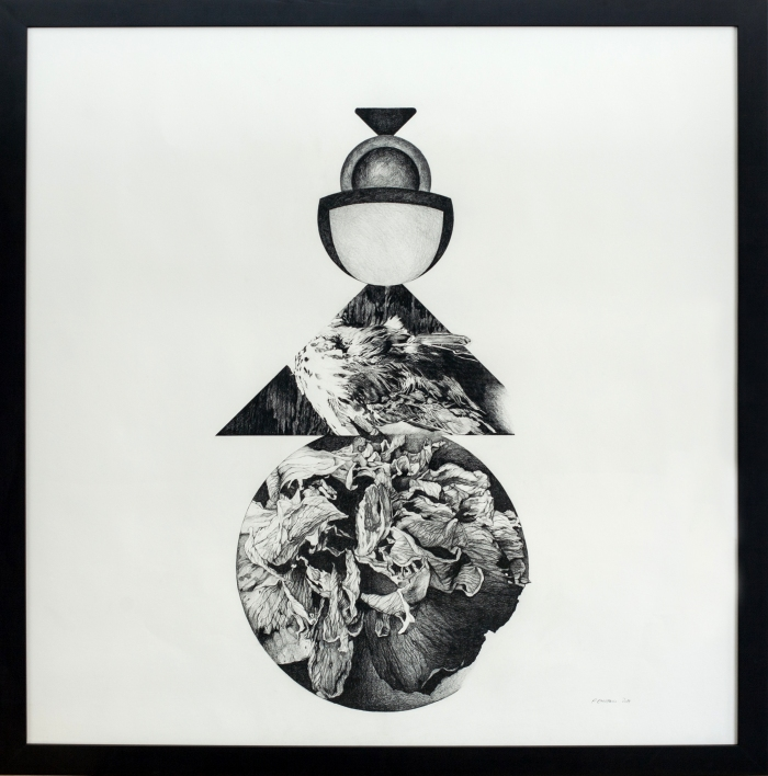 Figure Babel II graphite on paper 48 x 48 inches, 2014