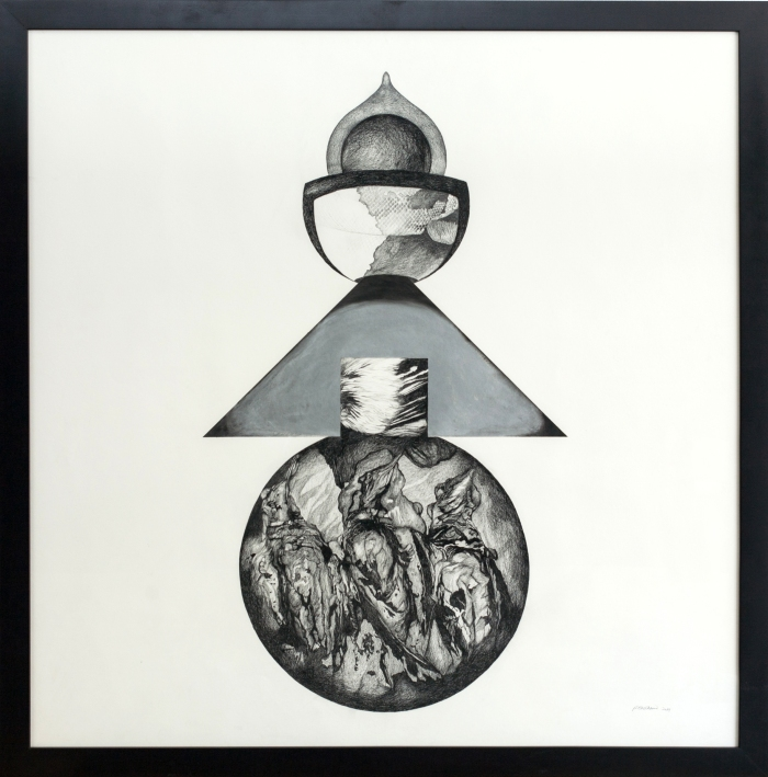 Figure Babel I graphite on paper 48 x 48 inches, 2014